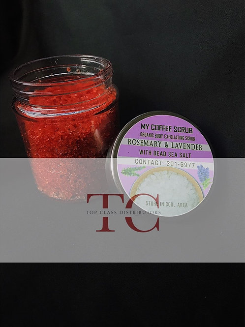 Rosemary & Lavender Organic Body Exfoliating Scrub with Dead Sea Salt - ALL org
