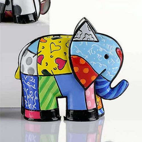 MINI POLYRESIN INDIA ELEPHANT DESIGN FIGURINE