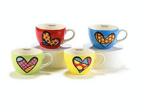 CERAMIC CAPPUCINO MUG SET OF 4