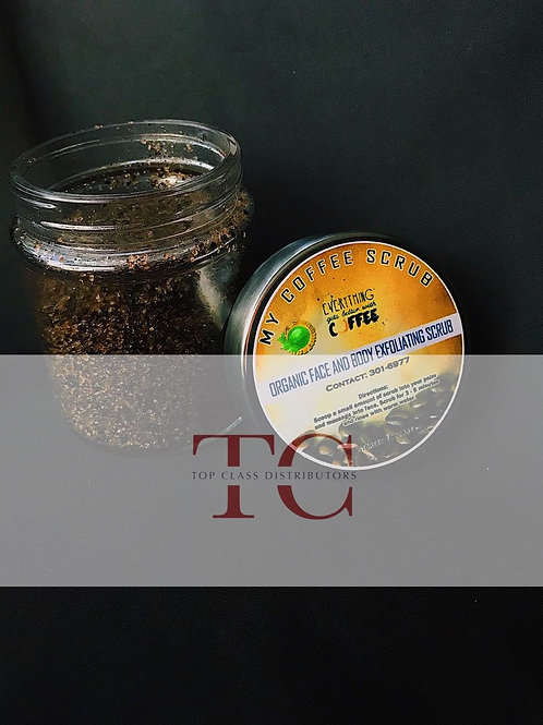 My Coffee Scrub – Organic face & body exfoliating scrub - ALL organic. 12 oz