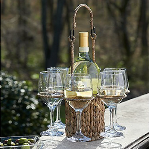 ARTLAND GARDEN TERRACE WINE CADDY & GLASSES