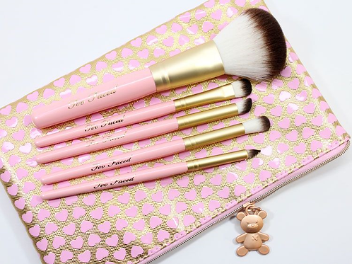TOO FACED TEDDY HAIR MAKEUP BRUSH SET