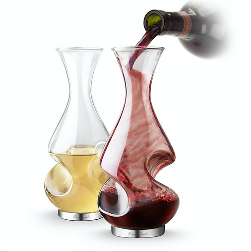 FINAL TOUCH CONUNDRUM DECANTER AERATOR SET OF 2