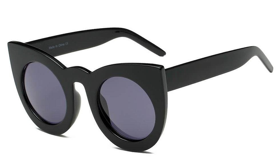 HINTON | S1066 - Women Round Cat Eye Oversize Sunglasses