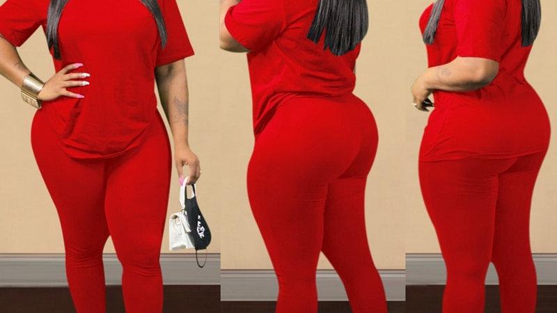 Plus Size Two Piece Pants Set