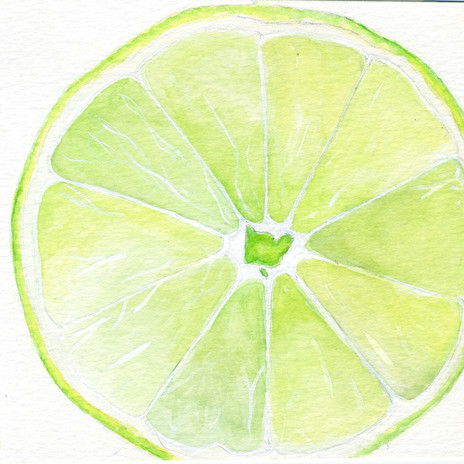 Lime watercolor