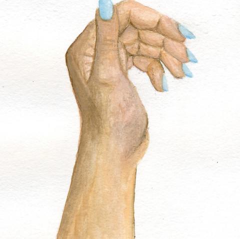 Watercolor of hand