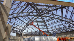 Windeee, inside spider web type of  roof