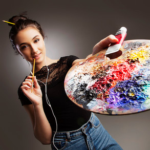 Portrait of young artist by Clifton Photographic