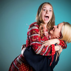fun portrait of mother & daughter hugging by Clifton Photographic