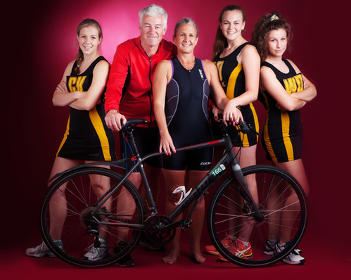 Sporting family with bike photographed by clifton photographic