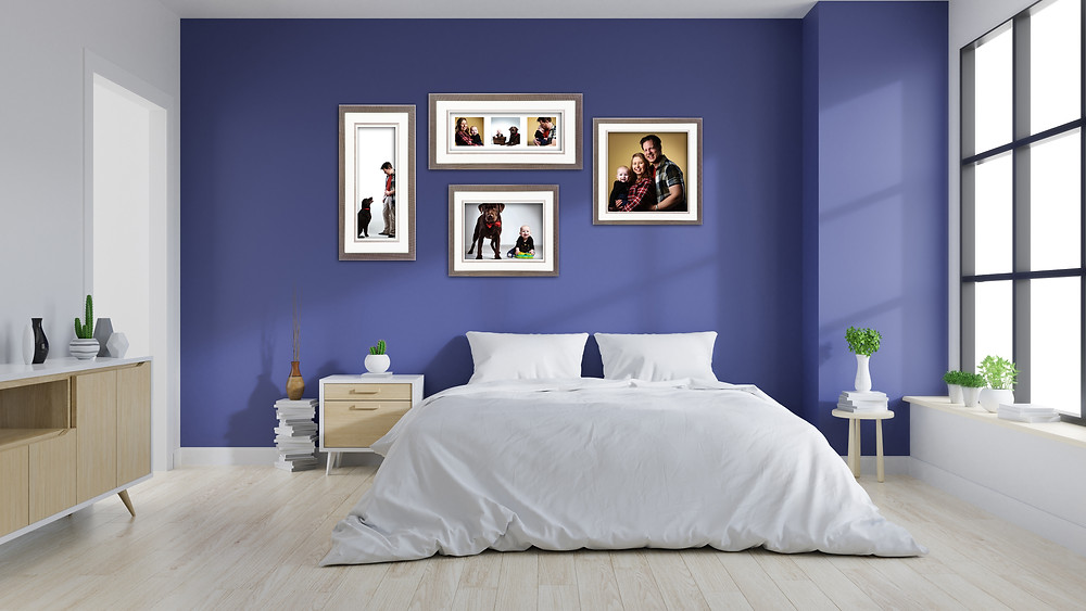 Rooms scene with framed photos by clifton photographic