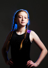 Portrait of young gymnast by Clifton Photographic
