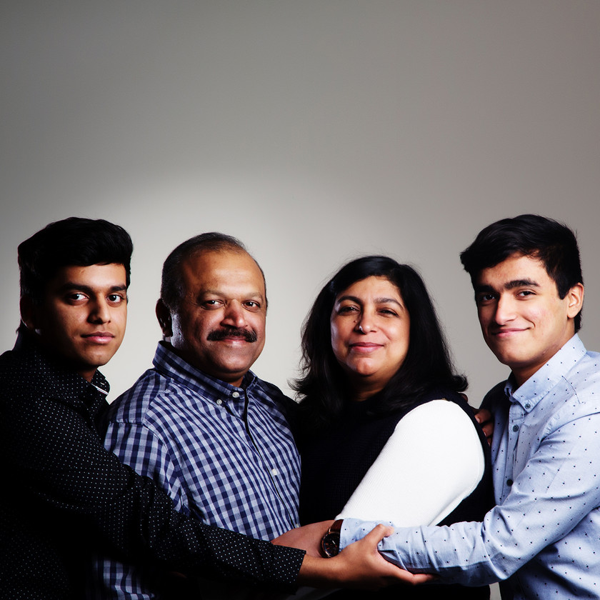 Traditional family portrait by clifton photographic