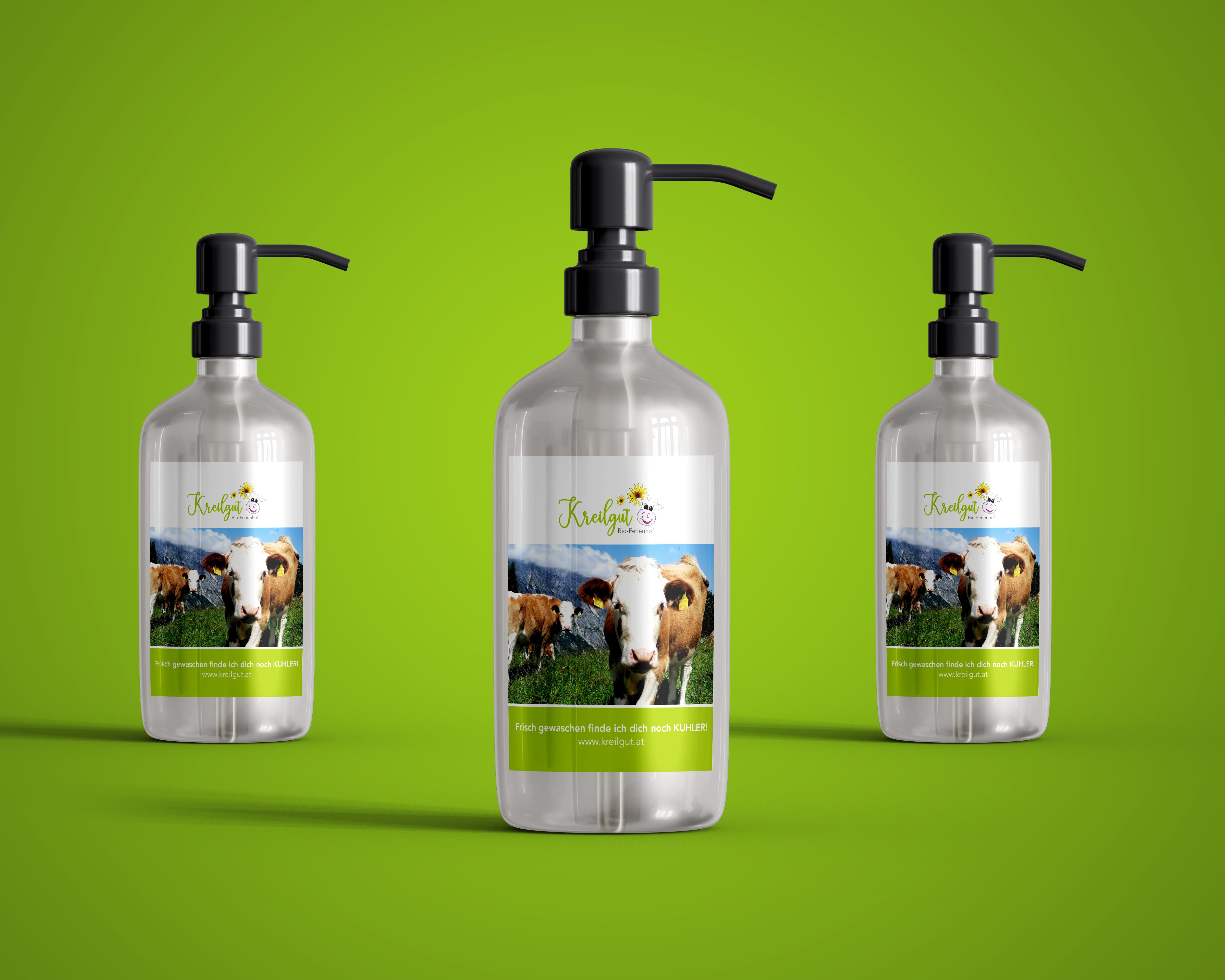 Etikettendesign für Flüssigseifen