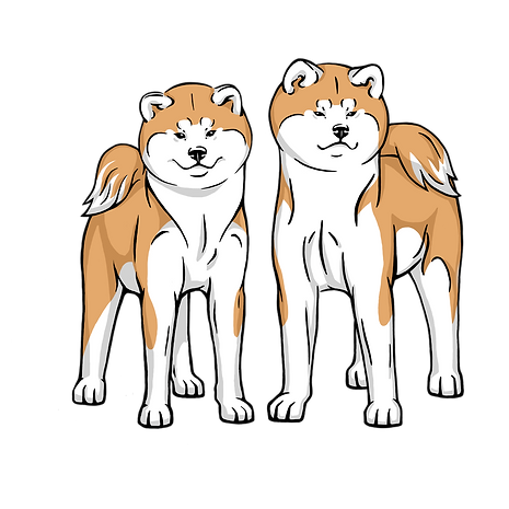Akita inu logo from Akai Hana Kennel