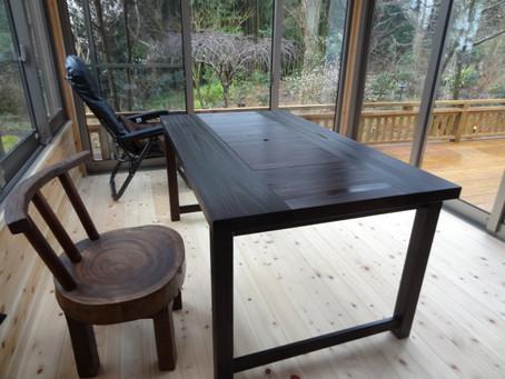 囲炉裏テーブルテーブルタイプをご購入いただいたYさまより