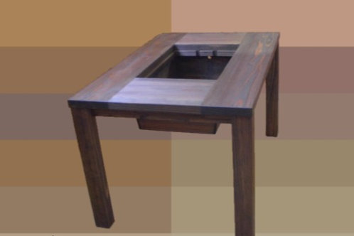 囲炉裏テーブル テーブルタイプ5点セット 【囲炉裏テーブル 灰  五徳 酒燗器 徳利2本】