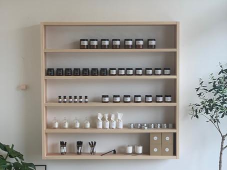 お客様のご要望で、商品棚を作りました。