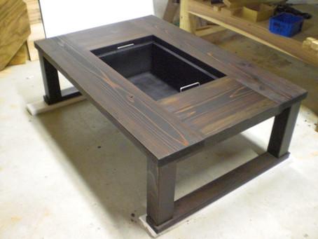 掘りごたつタイプの囲炉裏テーブル完成!