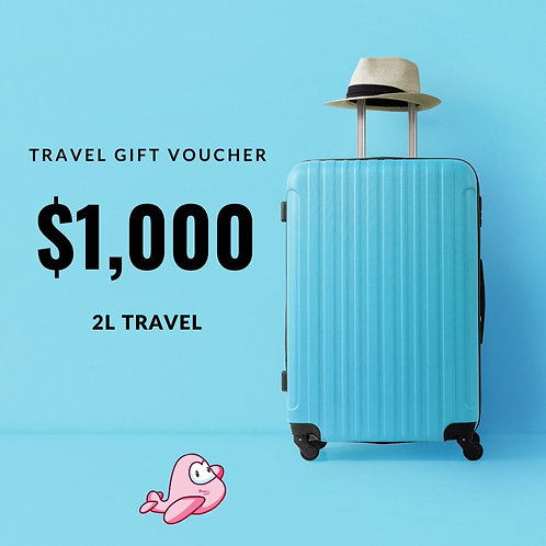 TRAVEL GIFT CARD $1,000