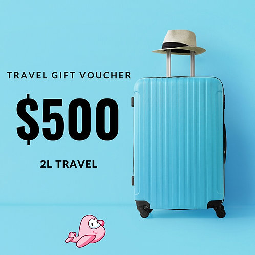 TRAVEL GIFT CARD $500