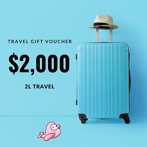 TRAVEL GIFT CARD $2,000