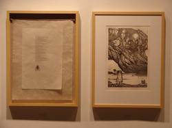 auschlusse line etching and poem