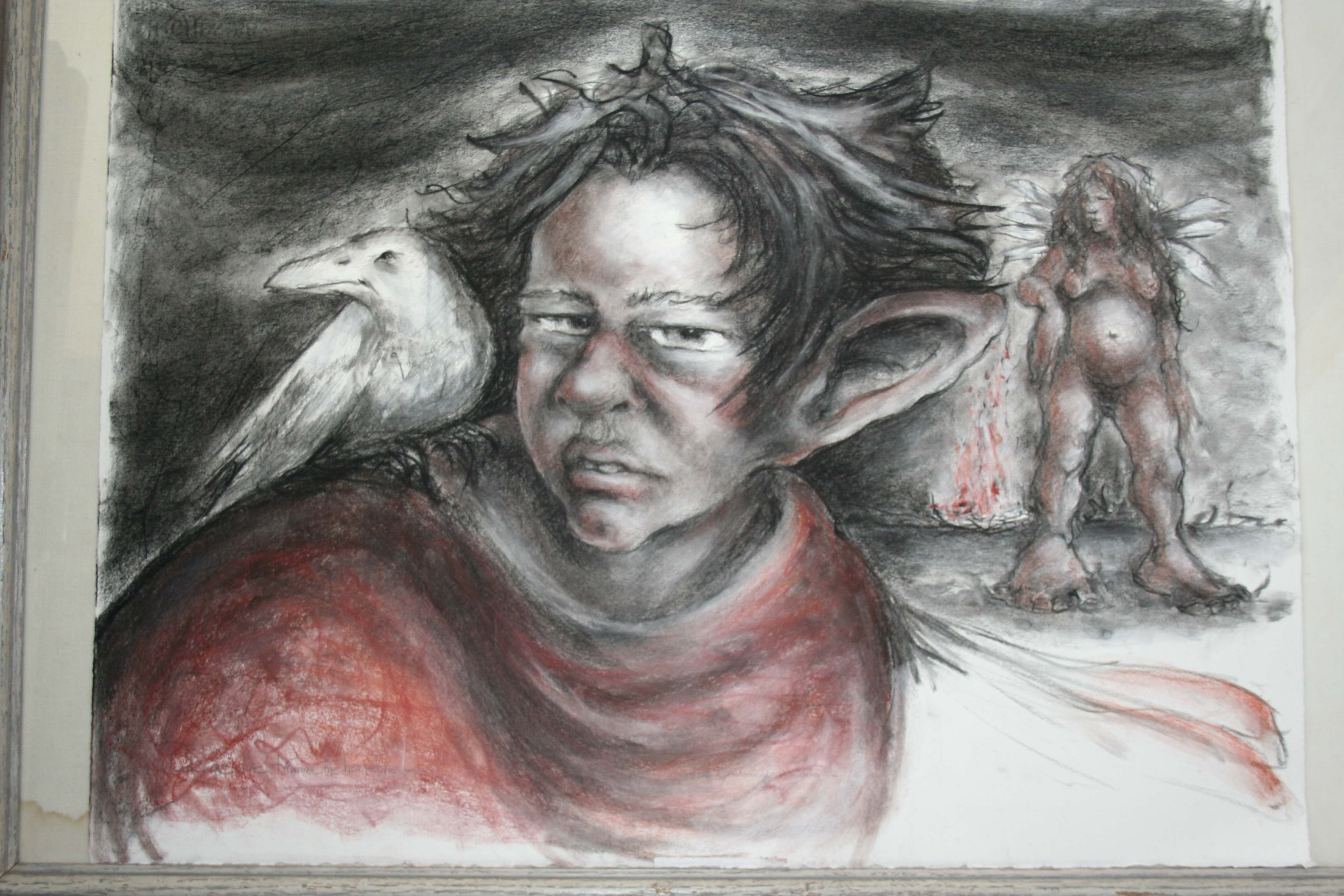outsidre witnesse ~ chalk drawing