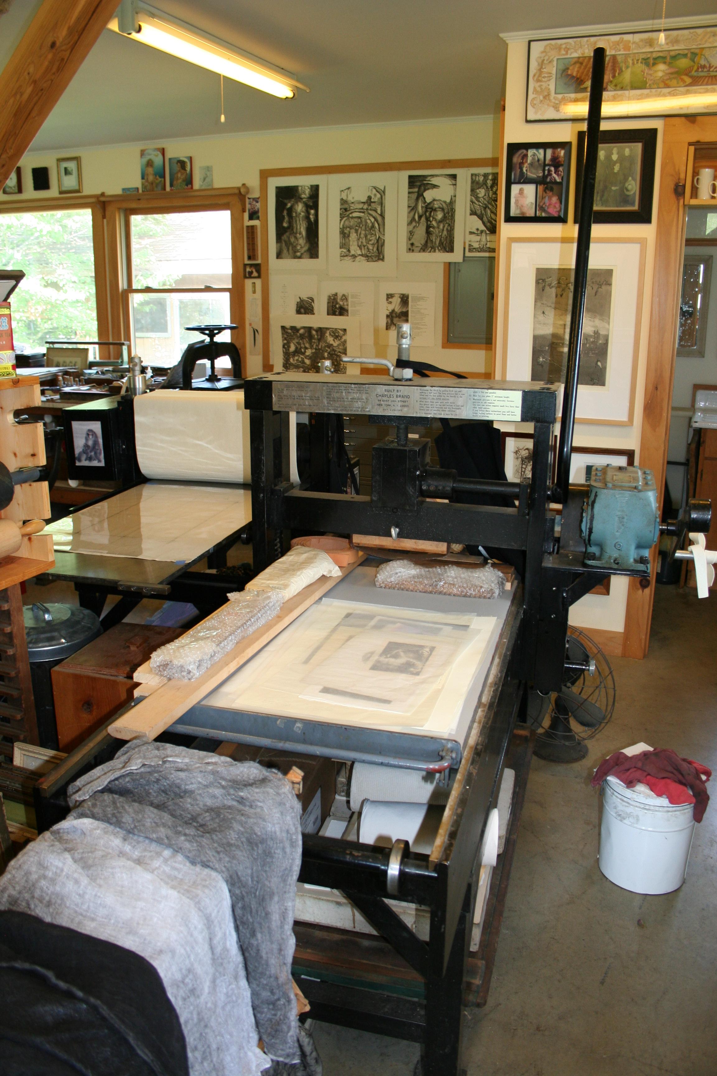 elderly lithograph press