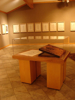 redhanded display case in exhibition