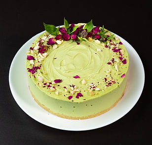 Lime-Strawberry-Basilik Cake