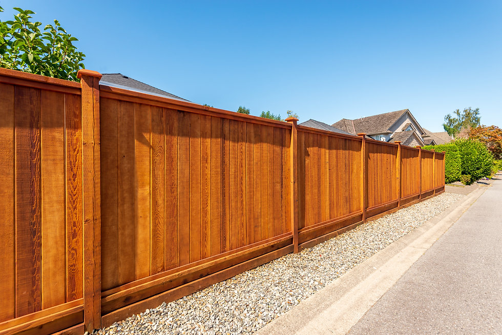 Fence built from wood. Outdoor landscape