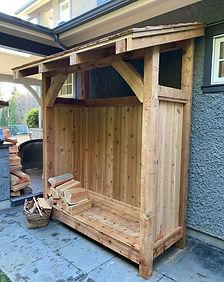 Firewood shed - cedar