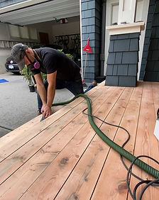 Deck sanding and re-finishing