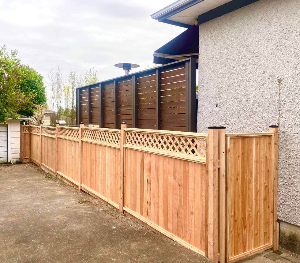 Panel style fencing and gates