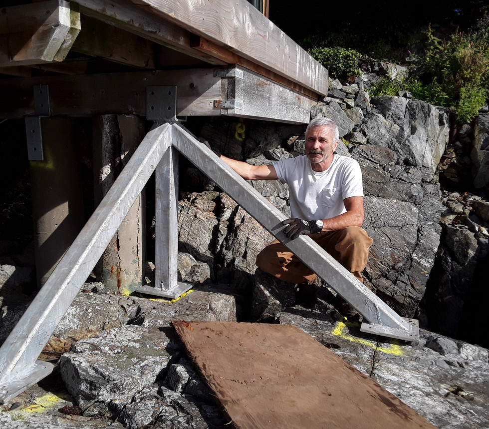 Seismic and breakwater upgrades.