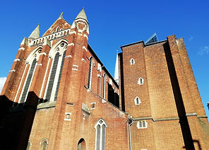 St Michael's Croydon exterior, 28-Jan-20