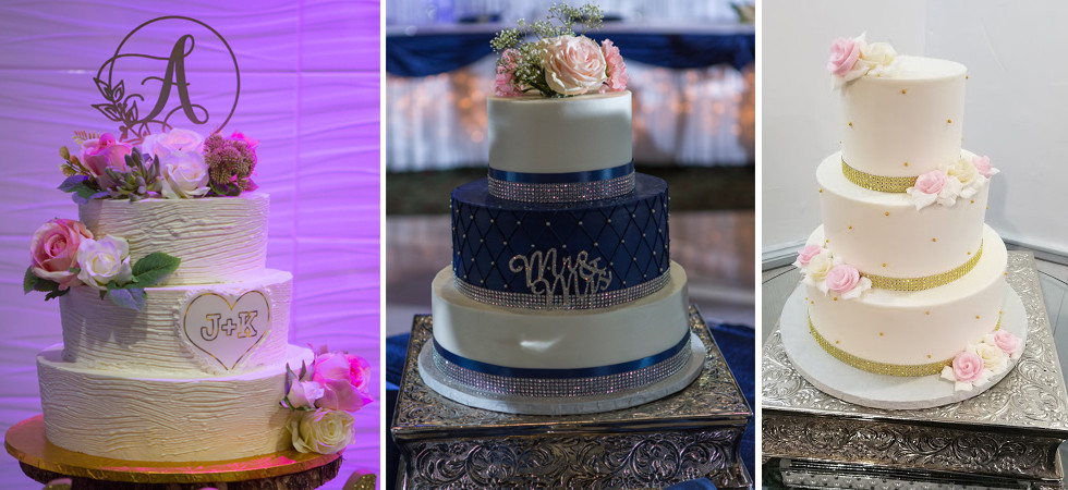 Wedding venue including beautiful cakes in Chicago