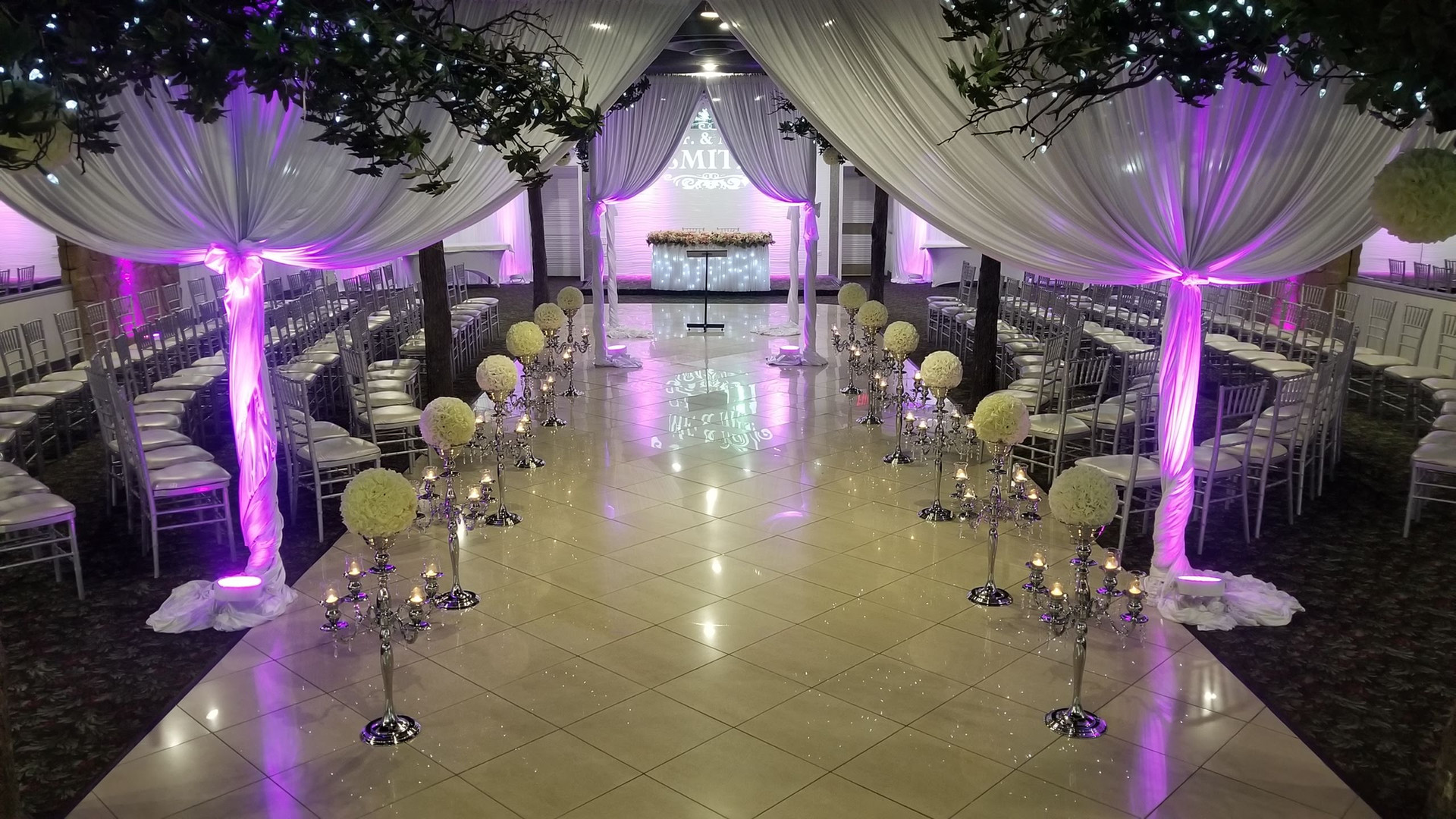 Ceremony, Canopy, Lighting, Pipe & Drape
