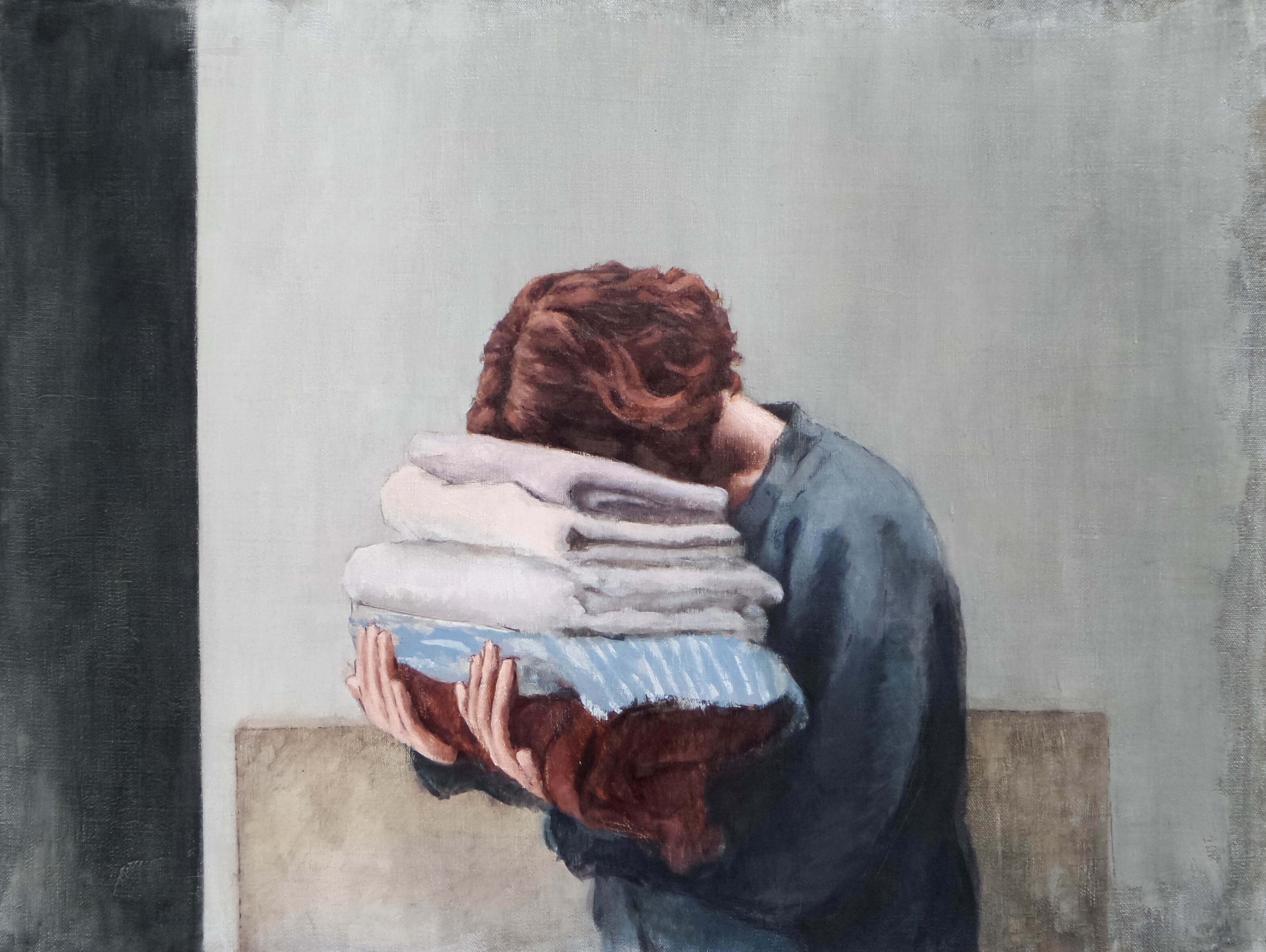 """The laundry"" oil on linen"