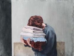 """The laundry"" oil on linen"