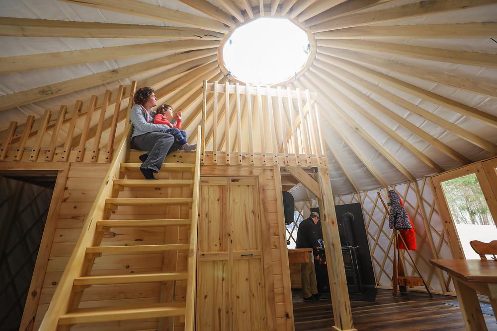 Yourte de Kenauk Nature: Construction neuve parfaitement aménagée pour accueillir un couple ou une jeune famille