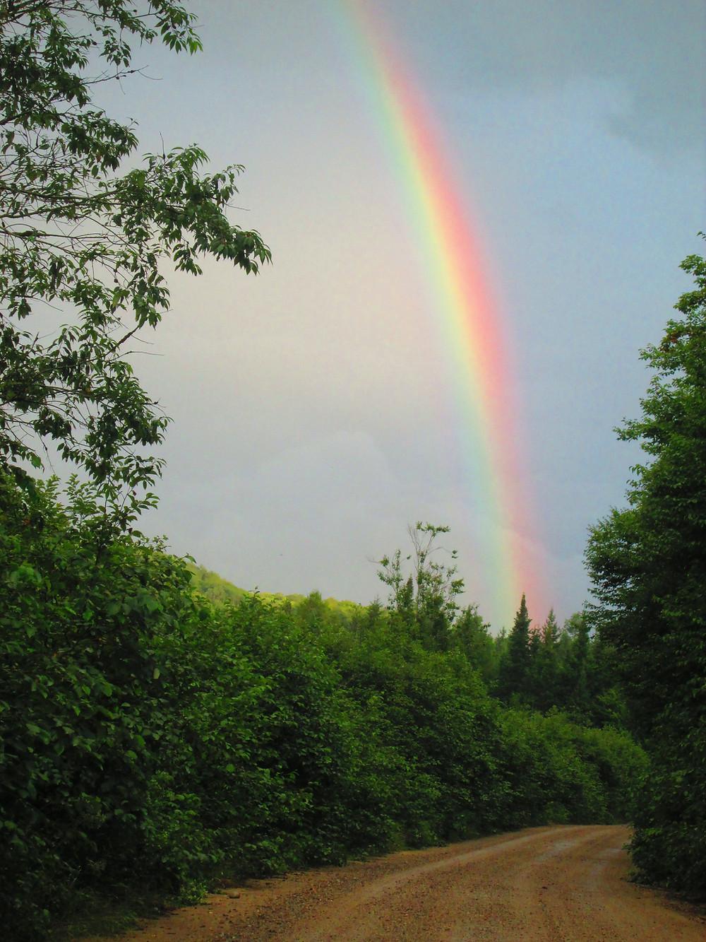 Arc-en-ciel que Carl a photographiée lors d'une prospection dans la Réserve faunique de Papineau-Labelle