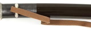 腰刻茶漆塗鞘合口短刀拵 附短刀 生ぶ茎無銘 壽命