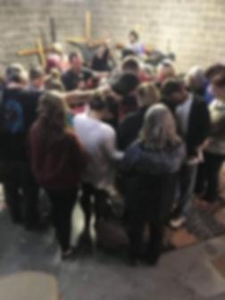 prayer at the avenue .JPG