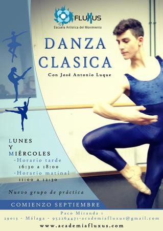 Nuevos horarios de Danza Clásica con José Antonio Luque