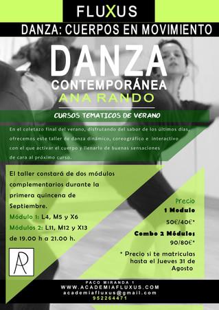 Curso de Danza Contemporánea con Ana Rando: CUERPOS EN MOVIMIENTO