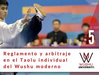 REGLAMENTO Y ARBITRAJE EN EL TAOLU MODERNO. 5
