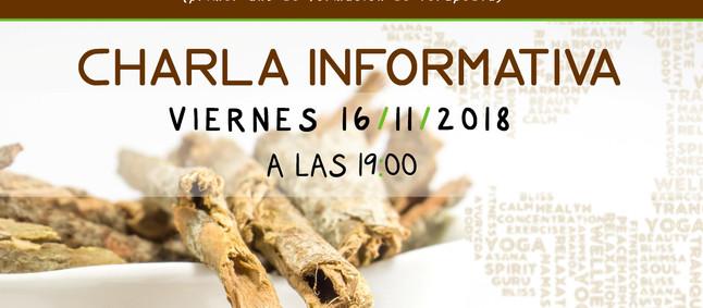 CHARLA PRESENTACIÓN SOBRE FORMACIÓN EN AYURVEDA